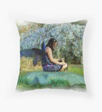 Blooming Fey Throw Pillow