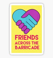 Derry Girls Friends Across the Barricade  Sticker