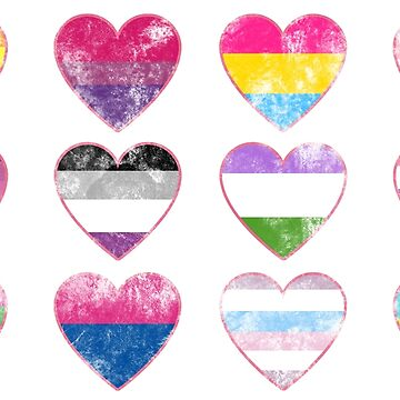 LGBTQ+ Hearts Sticker pack by Elisecv