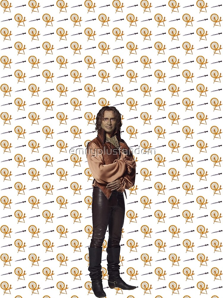 Rumplestiltskin / Mr Gold Dagger and Spinning Wheel Print (OUAT) by emilyplusfandom