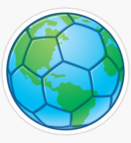 Planet Earth World Cup Soccer Ball Sticker