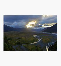 Sunset valley Photographic Print