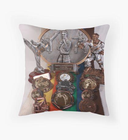 Martial Arts Rainbow Throw Pillow