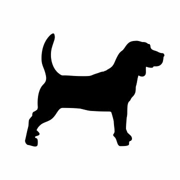 Schwarzer Beagle-Silhouetten-Muster von XOOXOO