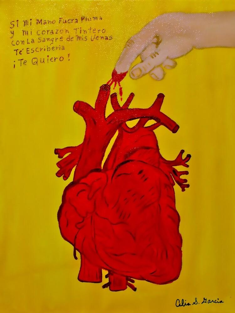 Corazón Tintero Yellow by CeliaSGarciaArt