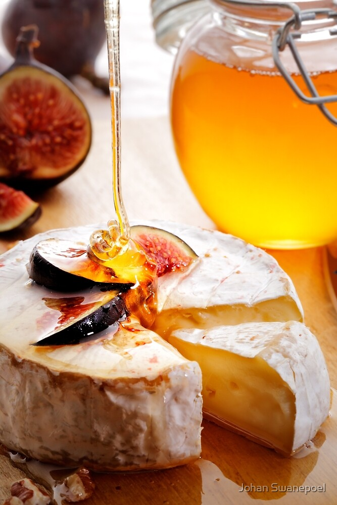 Brie Cheese with Figs and honey by Johan Swanepoel
