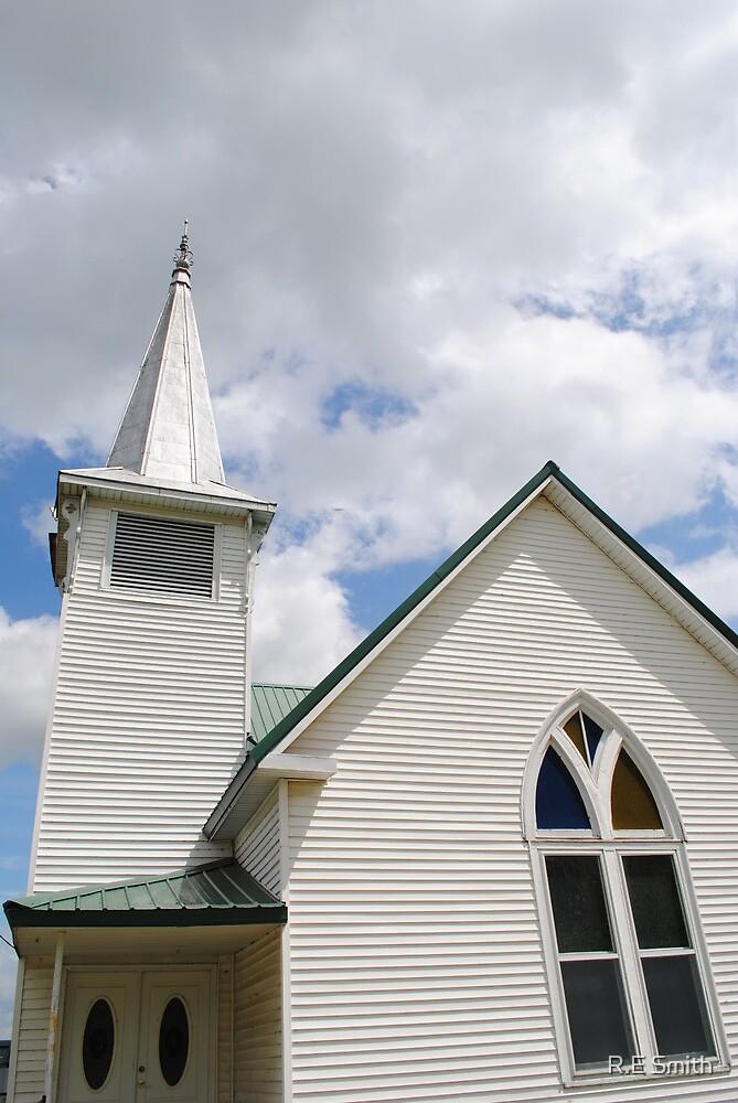 Route 66 Methodist Church Steeple by R.E Smith