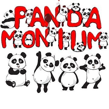 Funny Panda drawing Meme Bear T Shirt Pandamonium Pun by funnytshirtemp