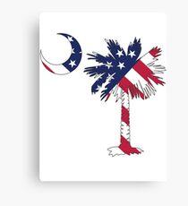 American Flag Palmetto Moon Canvas Print