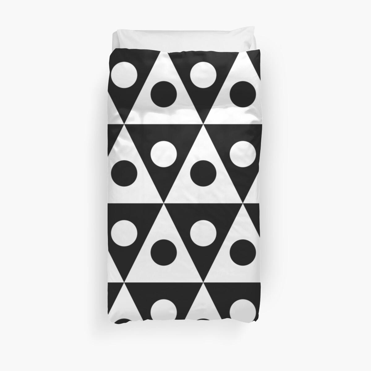 Pattern 260514 - White on Black by Artberry