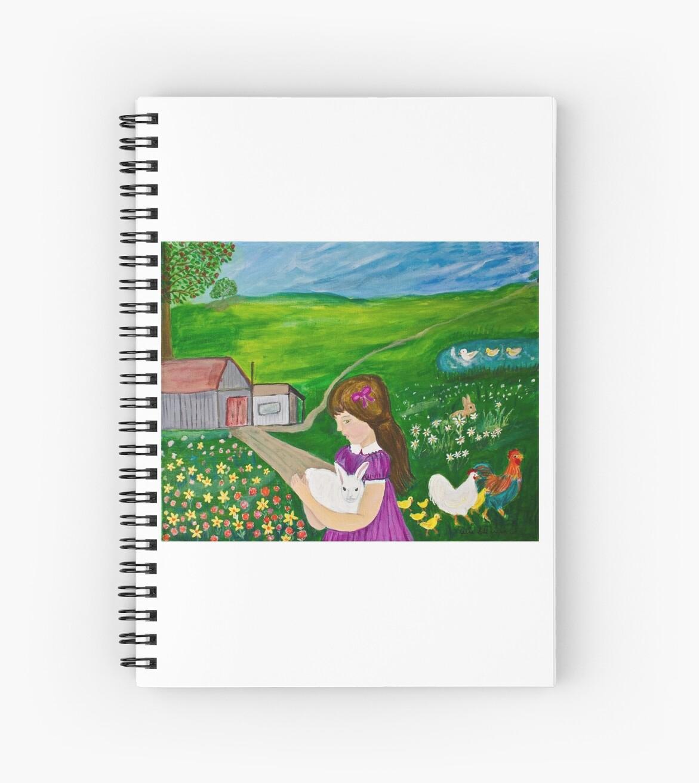 Girl With Bunny On Farm by CeliaSGarciaArt