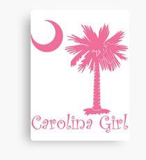 Pink Carolina Girl Palmetto Moon Canvas Print