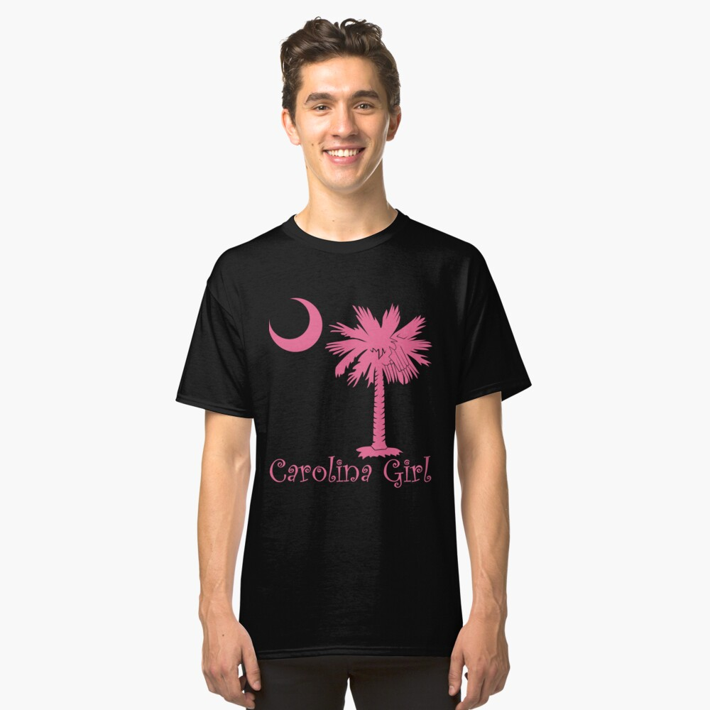 Pink Carolina Girl Palmetto Moon Classic T-Shirt Front