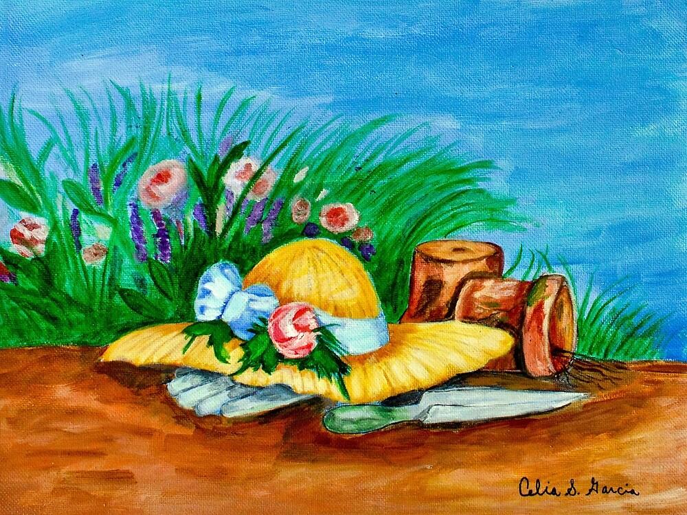 Hat & Flowers by CeliaSGarciaArt