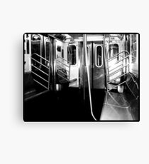 The subway is empty, just like my soul  Canvas Print