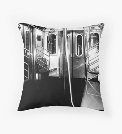 The subway is empty, just like my soul  Throw Pillow