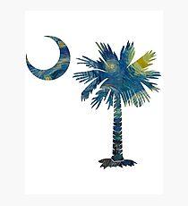 Starry Night Palmetto Moon Photographic Print