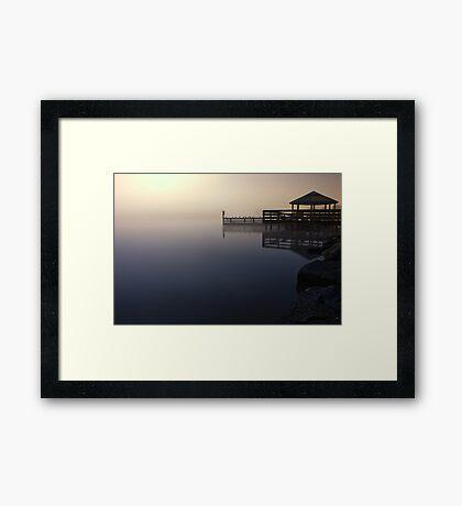 Foggy Night at Lilydale Lake #1 Framed Print