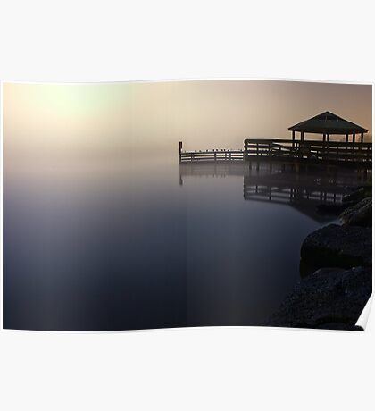 Foggy Night at Lilydale Lake #1 Poster
