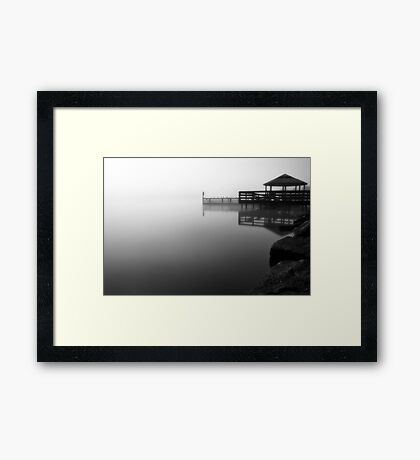 Foggy Night at Lilydale Lake #2 Framed Print