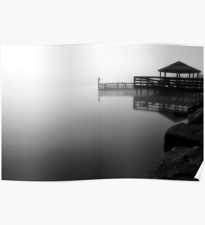 Foggy Night at Lilydale Lake #2 Poster