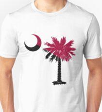 Garnet and Black Palmetto Moon Unisex T-Shirt