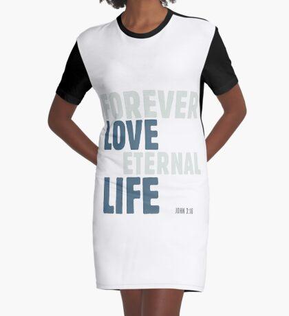 Forever love, eternal life - John 3:16 Graphic T-Shirt Dress