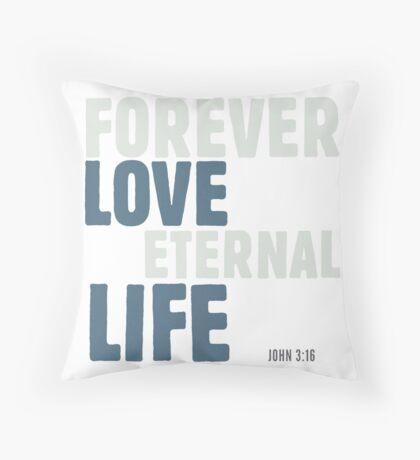 Forever love, eternal life - John 3:16 Floor Pillow