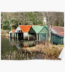 Loch Ard Boathouses Poster