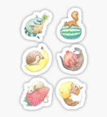 Small Animals & Fruit Sticker