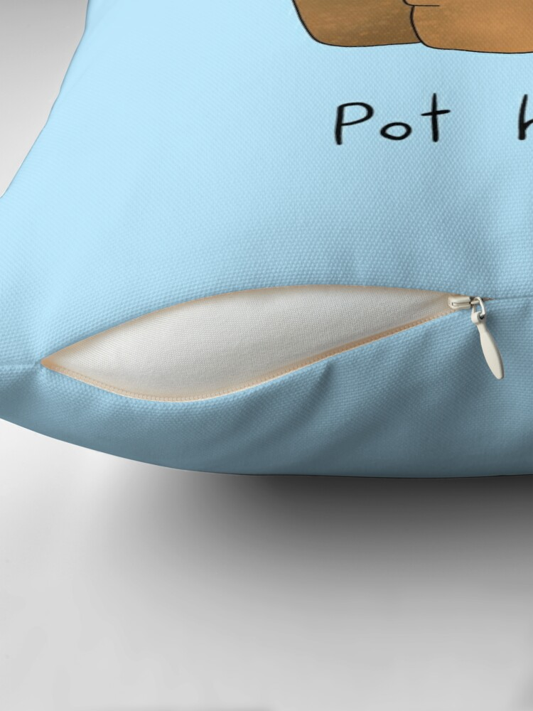 Alternate view of Pot Head Cacti Obsessive Throw Pillow