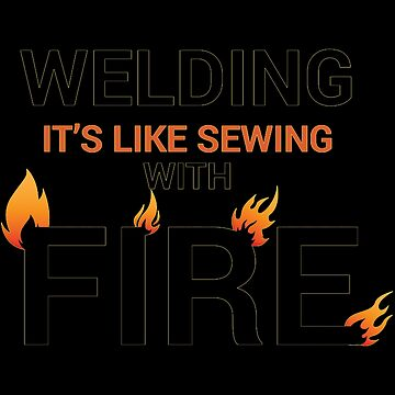 Welding sewing with fire black by Vroomie