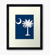 White Palmetto Moon Framed Print
