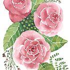 Rote Rosen, ursprüngliches Aquarell von SharonRoseR