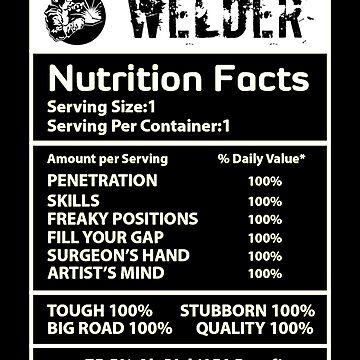 Welder nutrition white by Vroomie