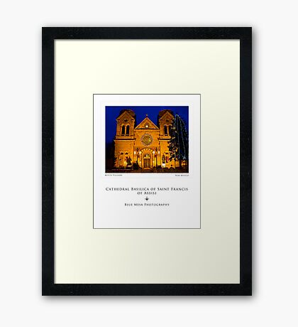 Cathedral Basilica in Santa Fe (poster version) Framed Print