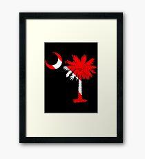 Diver Flag Palmetto Moon Framed Print