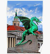 Dragon Bridge, Ljubljana, Slovenia Poster