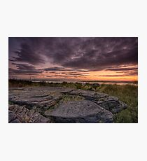 Frogs gob sunset Photographic Print
