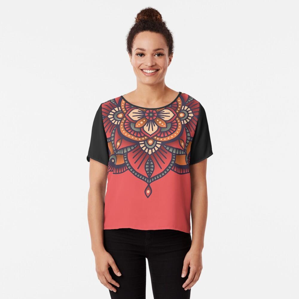 Red Mandala  Chiffon Top