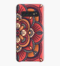 Red Mandala  Case/Skin for Samsung Galaxy