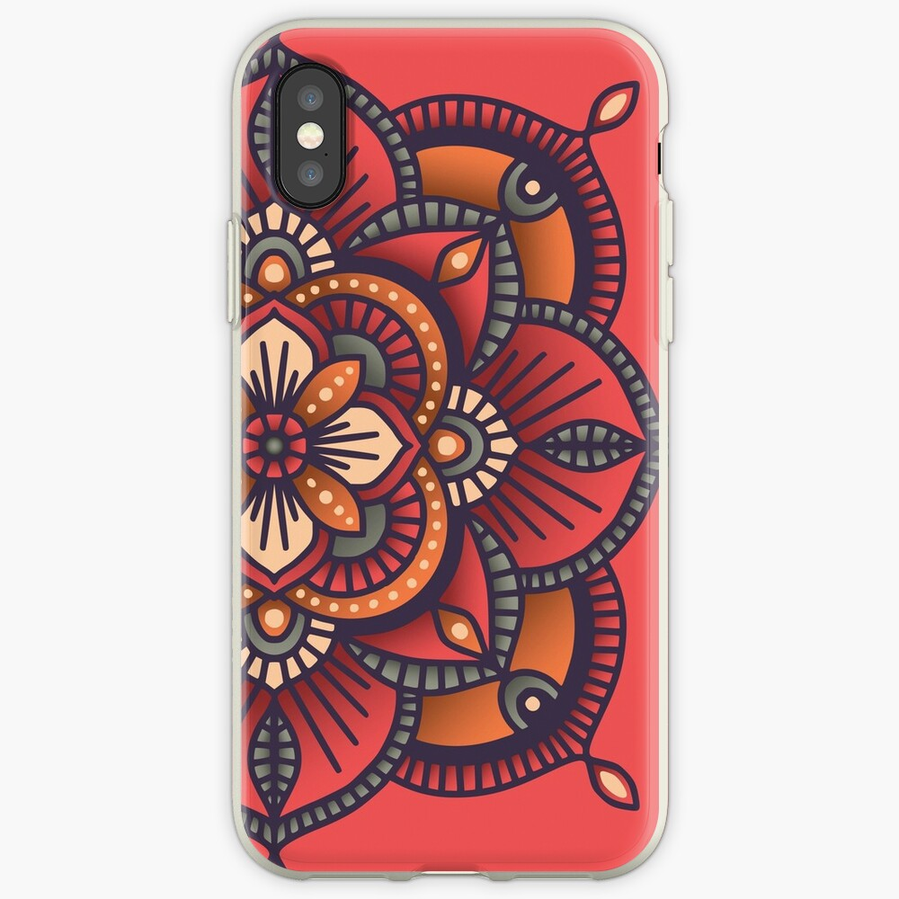Red Mandala  iPhone Cases & Covers