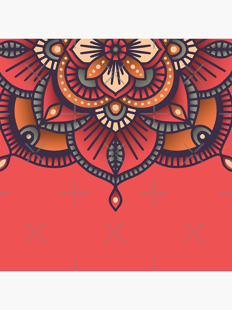Red Mandala  by BlueLela