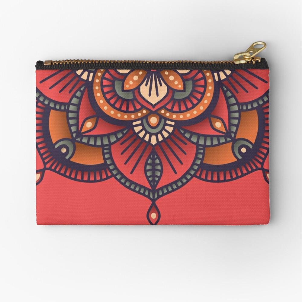 Red Mandala  Zipper Pouch