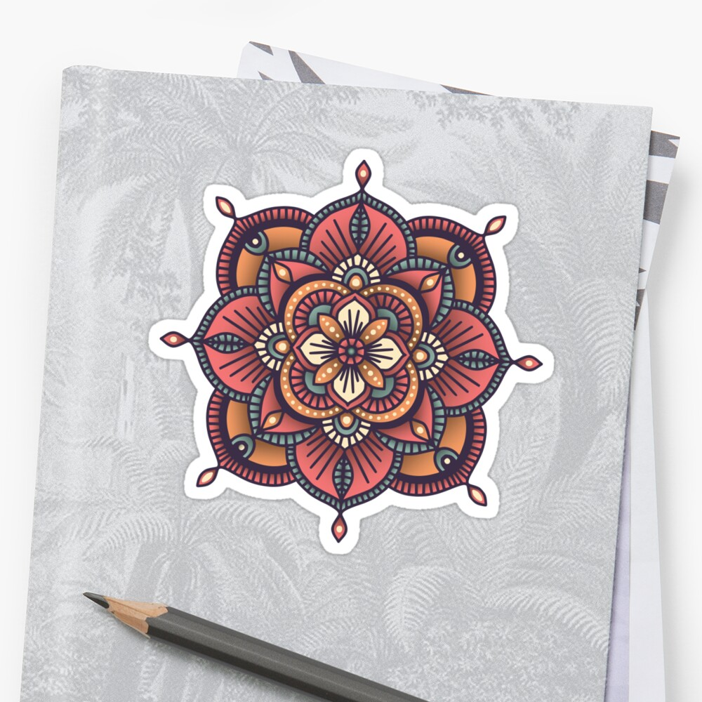 Red Mandala  Stickers