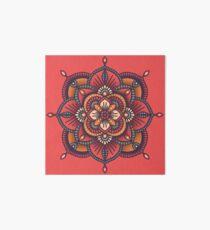 Red Mandala  Art Board Print