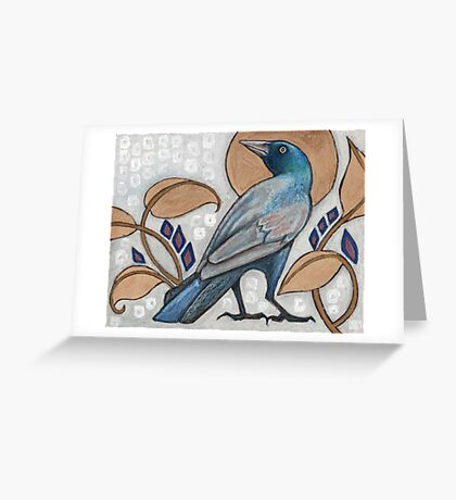 Grackle's Day Out Greeting Card