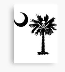 Calico Jack Pirate Palmetto Moon Canvas Print