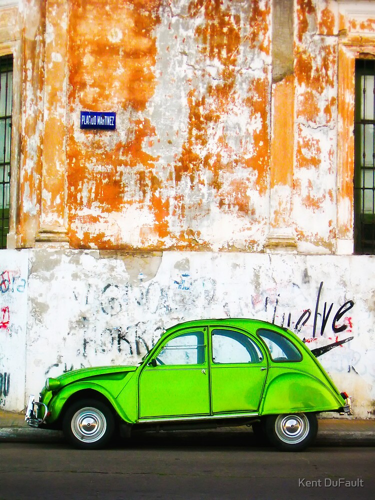 Green Car - Argentina by Kent DuFault