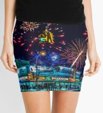 Saturday Night At Coney Island Mini Skirt